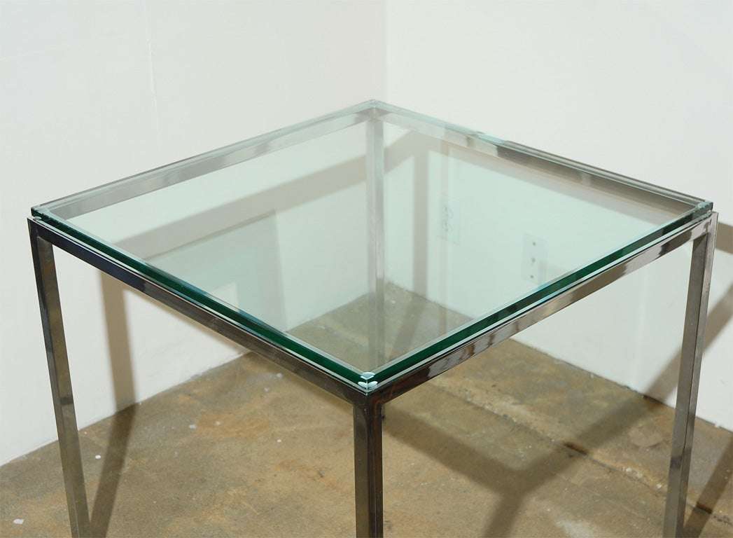 Vintage Knoll glass and chrome table at 1stdibs : DSC0229 from 1stdibs.com size 1047 x 768 jpeg 80kB
