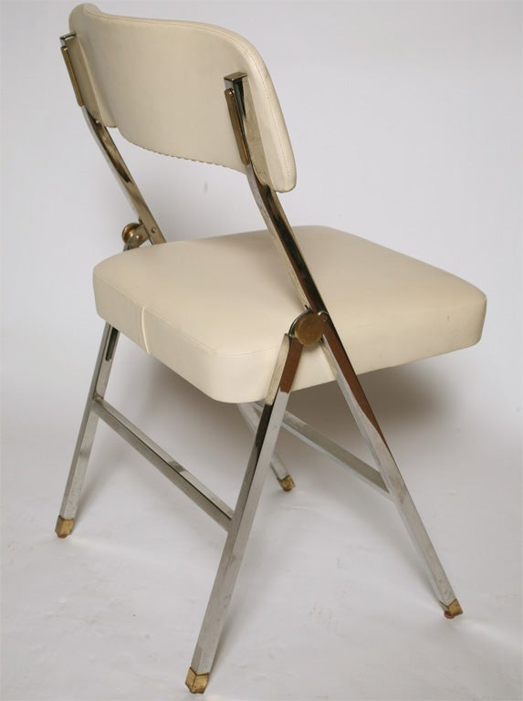 20th Century Karl Springer  Folding Chairs For Sale