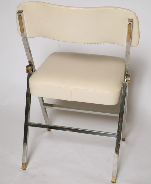 Karl Springer  Folding Chairs For Sale 1