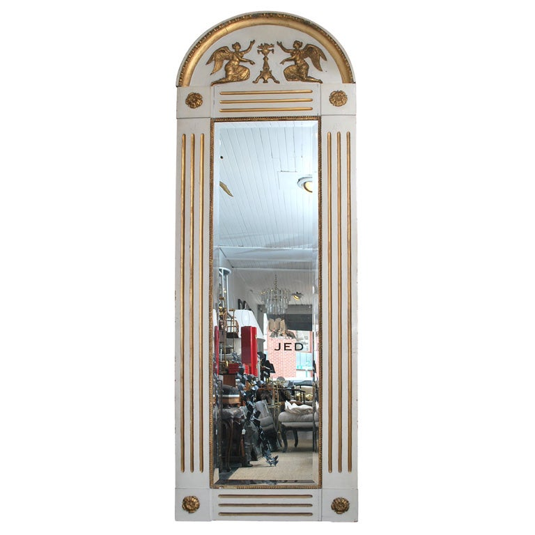 Large white and gold mirror at 1stdibs for White and gold mirror