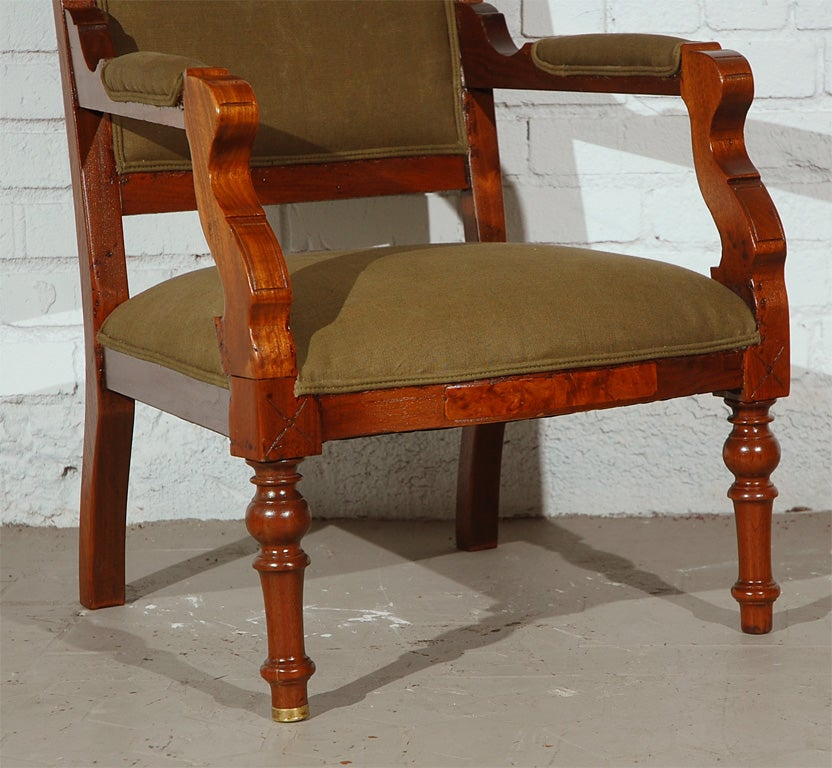 Rare Early 20th Century English Carved Arm Chair At 1stdibs
