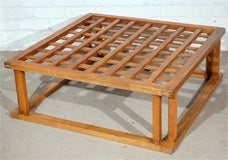 Japanese Hibachi Style Wood Coffee Table image 2