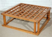 Japanese Hibachi Style Wood Coffee Table image 3
