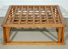 Japanese Hibachi Style Wood Coffee Table image 4