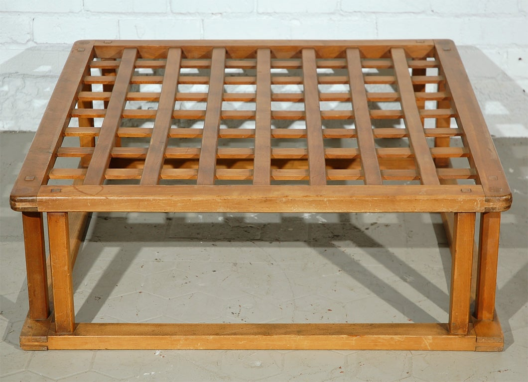 Japanese Hibachi Style Wood Coffee Table 4