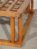 Japanese Hibachi Style Wood Coffee Table image 5