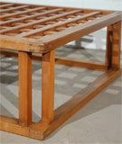 Japanese Hibachi Style Wood Coffee Table image 7