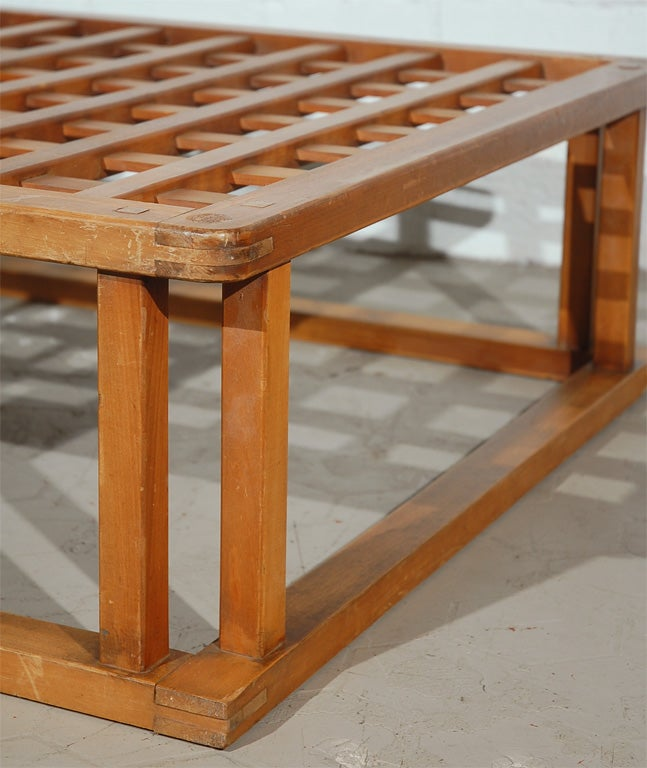 Japanese Hibachi Style Wood Coffee Table 7