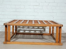 Japanese Hibachi Style Wood Coffee Table image 8