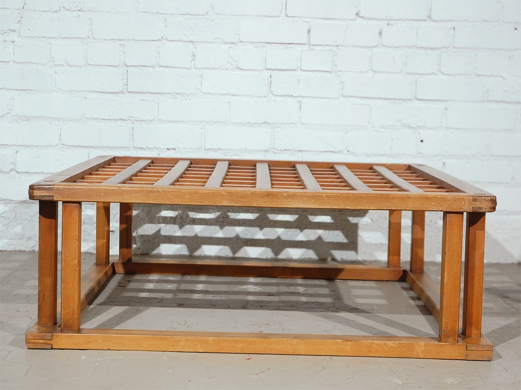 Japanese Hibachi Style Wood Coffee Table 8