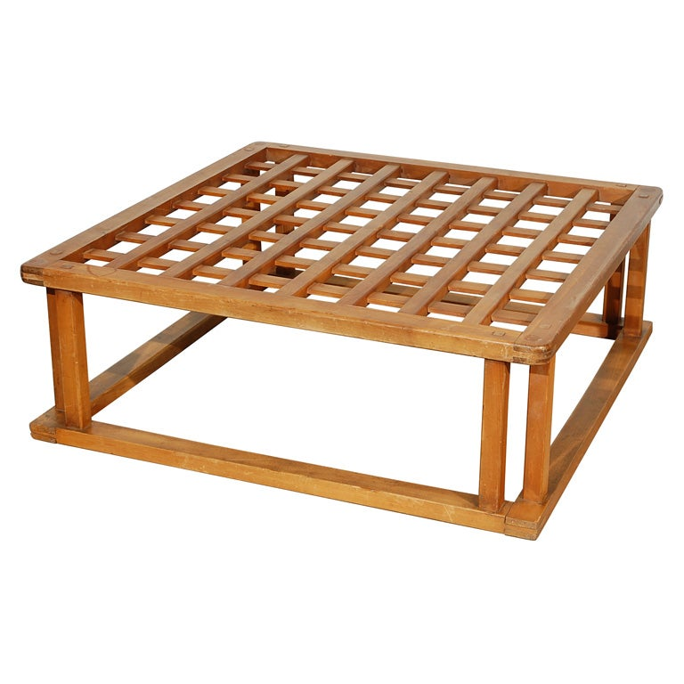 Japanese Hibachi Style Wood Coffee Table At 1stdibs