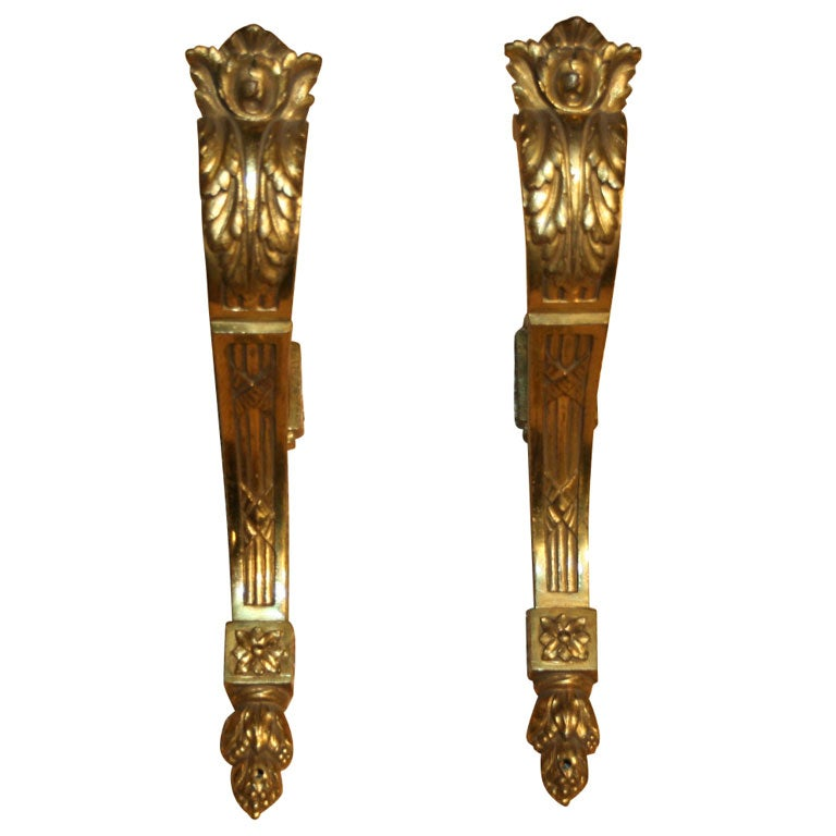 One Of 3 Pairs Of Antique French Bronze Drapery Pole Brackets At 1stdibs