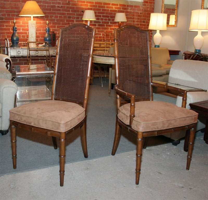 set of 6 henredon faux bamboo chairs at 1stdibs