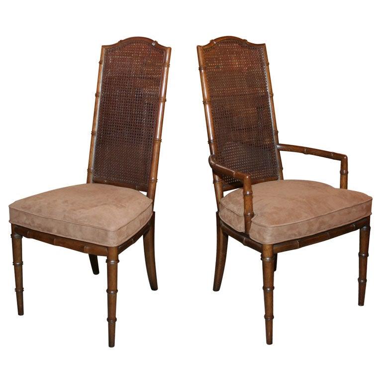 Set Of 6 Henredon Faux Bamboo Chairs At 1stdibs