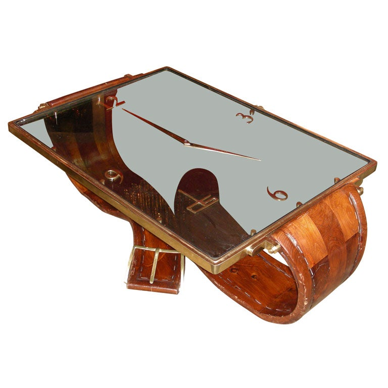 1970s Wrist Watch Shaped Coffee Table For At 1stdibs
