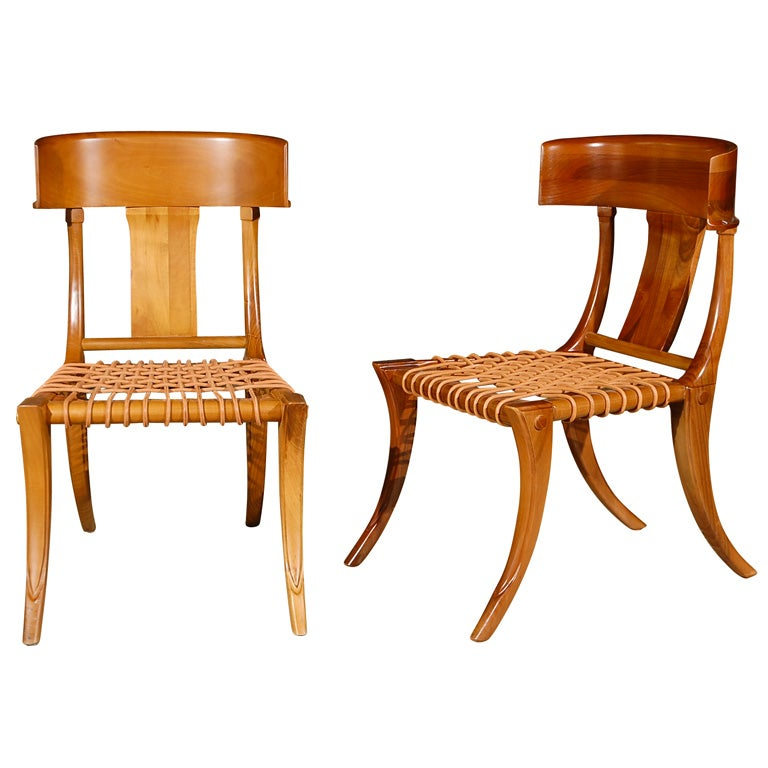 the klismos chair Neoclassical chair designed by abildgaard in connection with his renovation of the palace 'klismos' comes from the greek klinein, which means 'bend, lean'.