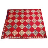 LATE 19THC POSTAGE STAMP QUILT