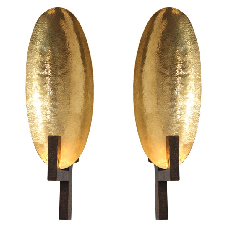Contemporary Bronze Sconce by Herve van der Straeten at 1stdibs