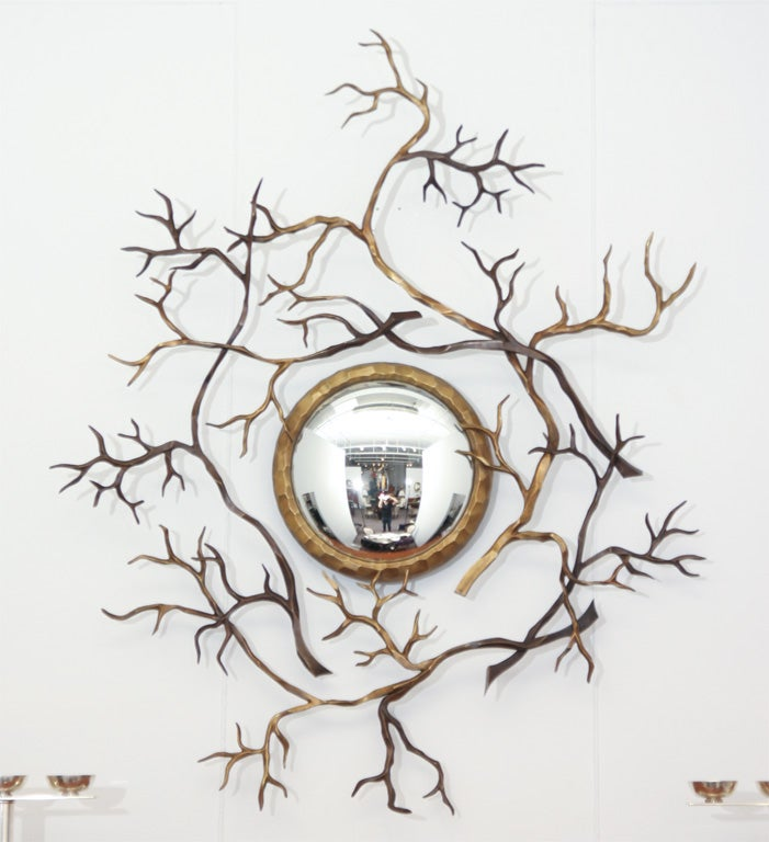 herv van der straeten branches bronze mirror france 2008 for sale at 1stdibs. Black Bedroom Furniture Sets. Home Design Ideas