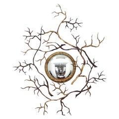 """Hervé van Der Straeten, """"Branches"""" Bronze Mirror, France, 2008"""