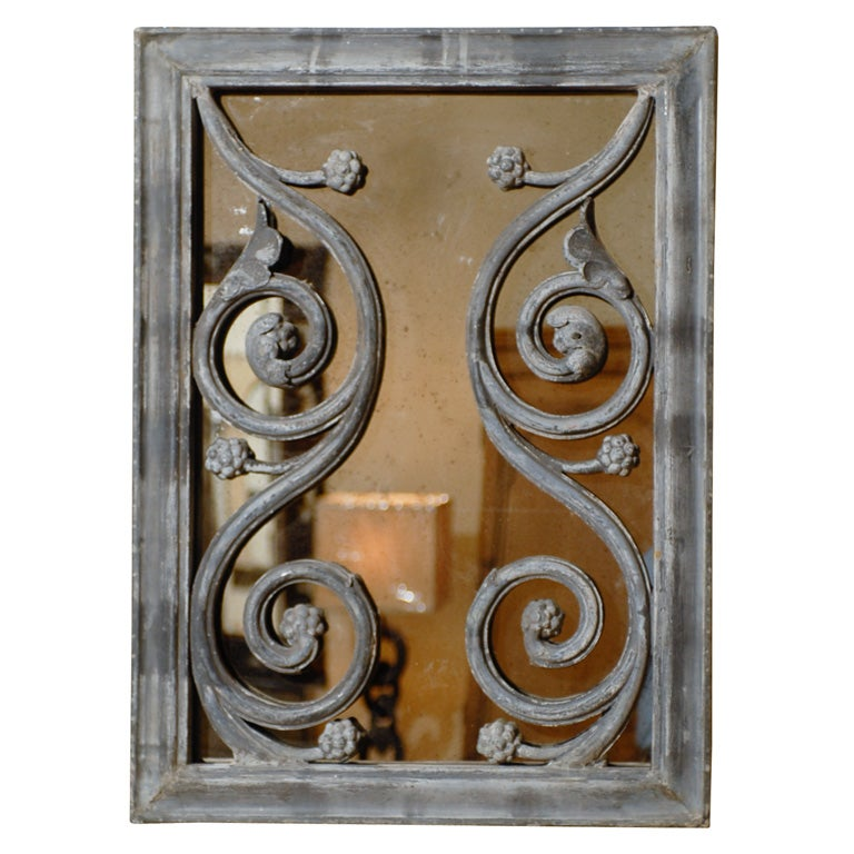 French Zinc Architraving Moulding Mirror