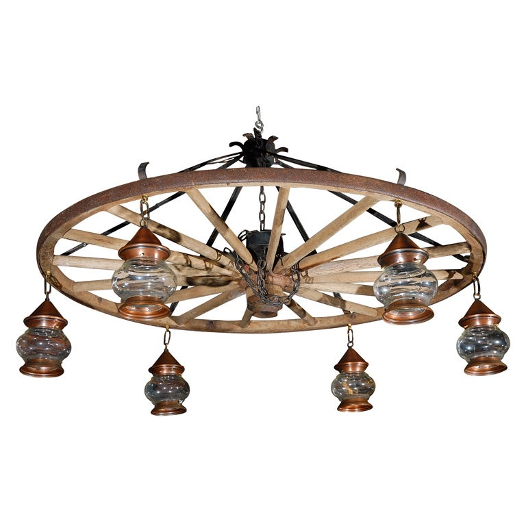 Wagonwheel Chandelier At 1stdibs