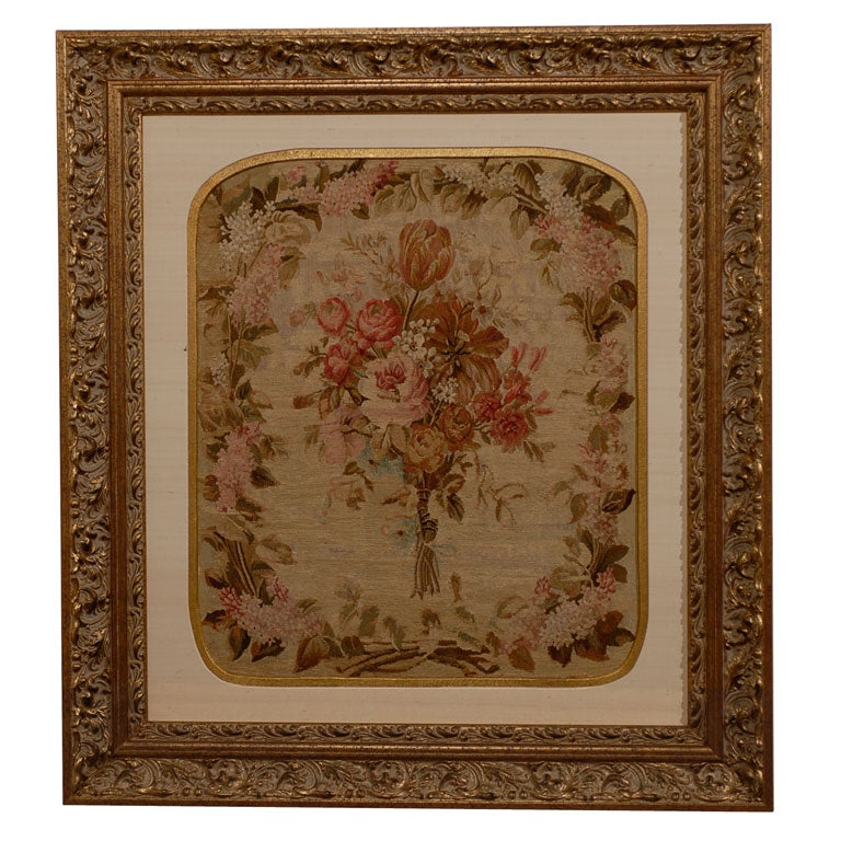 19th Century French Silk Aubusson Tapestry