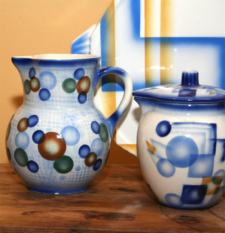 20th Century Air Brush Pottery Collection For Sale