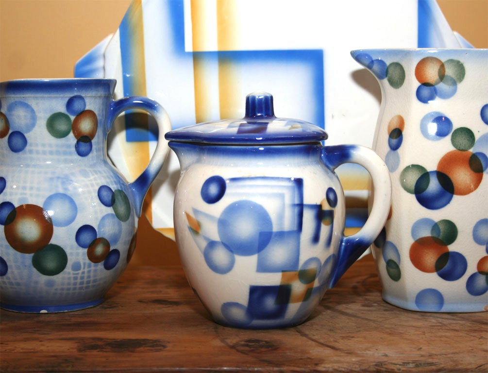 Air Brush Pottery Collection For Sale 1
