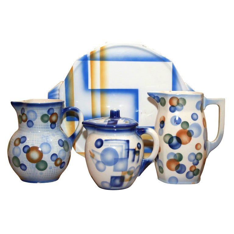 Air Brush Pottery Collection For Sale