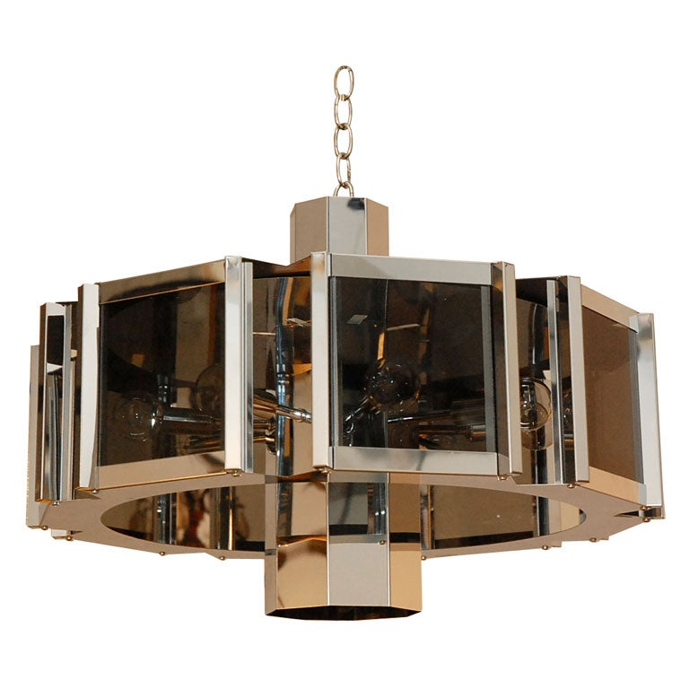 Gleaming Mod 70s Chandelier In The Style Of Robert