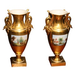 Pair of Dresden Vases