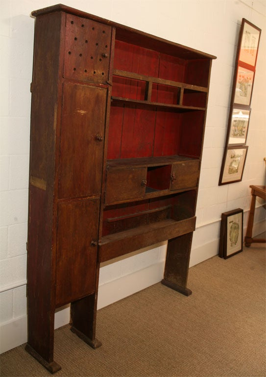 Chinese painted wood cabinet with 5 doors at 1stdibs for Wood doors on painted cabinets