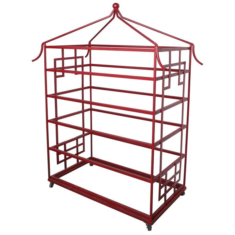Red iron etagere at 1stdibs - Etagere cases carrees ...