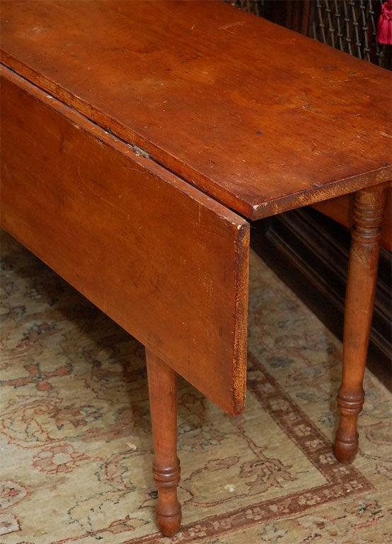 Antique American Drop Leaf Harvest Table At 1stdibs
