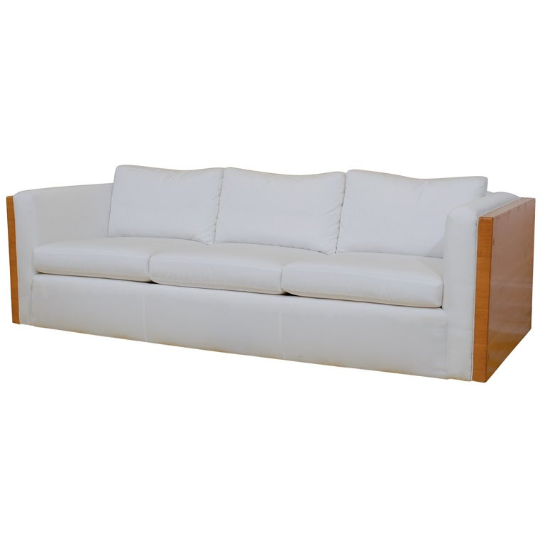Vintage Wood Framed Sofa At 1stdibs