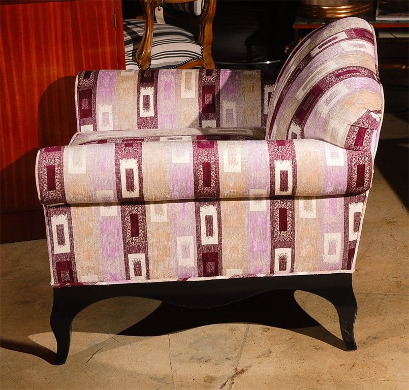 Wood Pair of French Armchairs For Sale