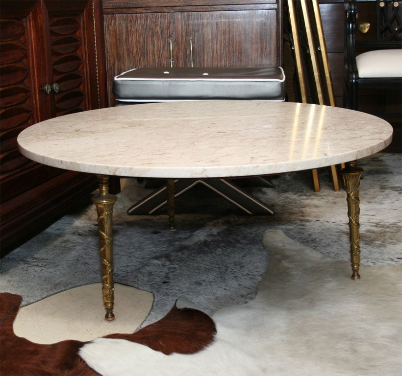 Base For Coffee Table With Brass Legs At 1stdibs