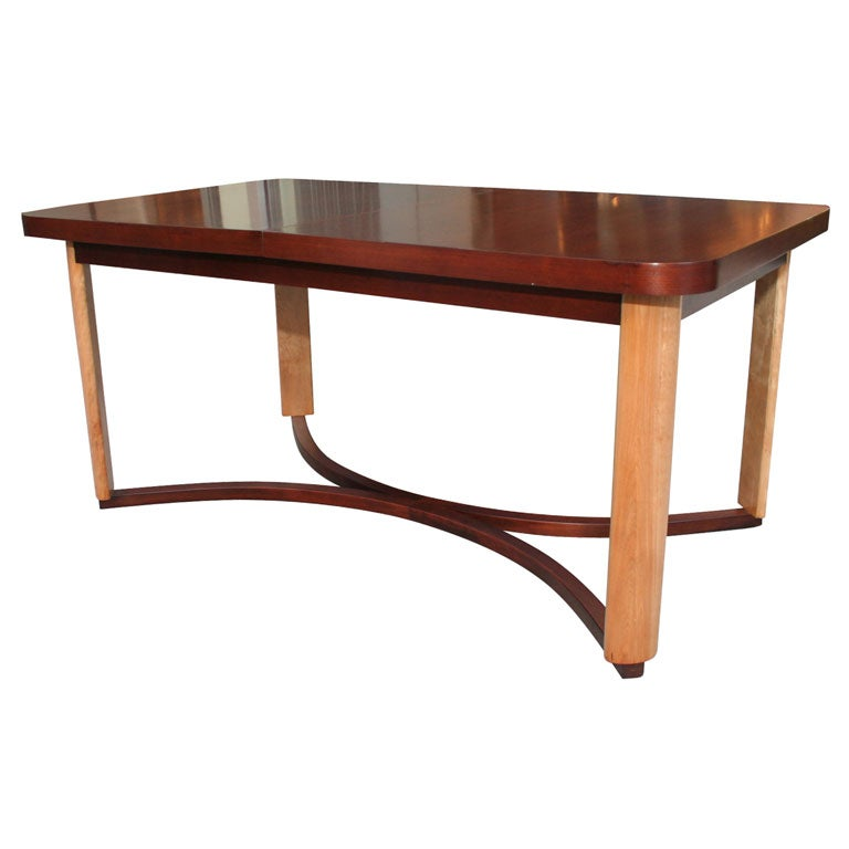 art deco dining table in walnut birch by gilbert rohde art deco dining furniture