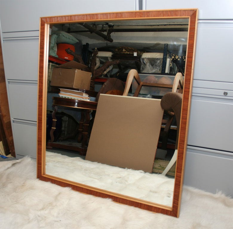 Elegant pair of mirrors by Frankl with the Classic combed wood finish.