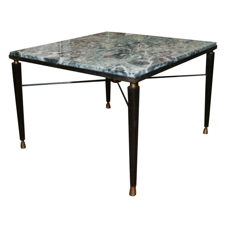 square marble top coffee table at 1stdibs