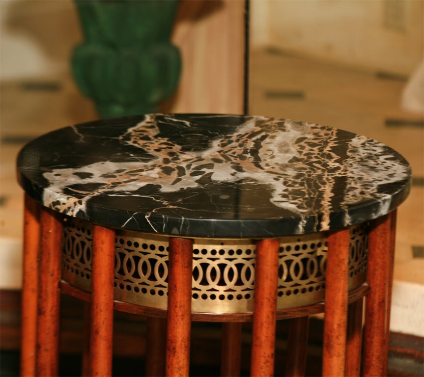 Regency Mahogany  Marble Topped Side Table 4