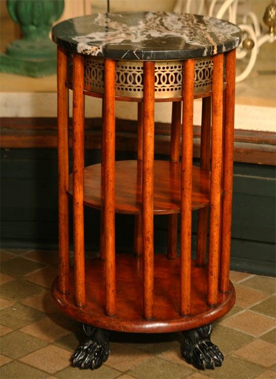 Regency Mahogany  Marble Topped Side Table 5