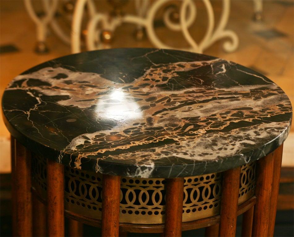 Regency Mahogany  Marble Topped Side Table 8