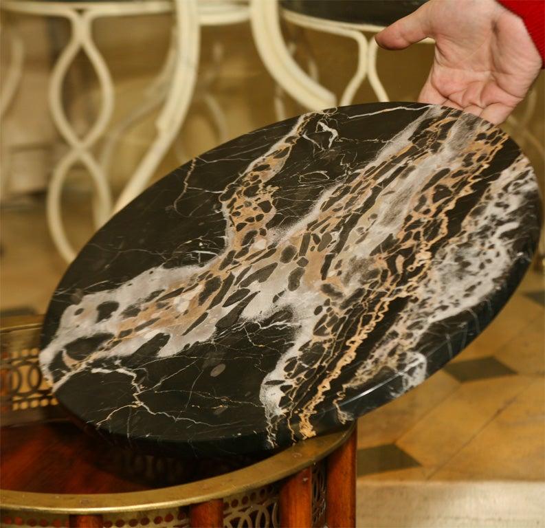 Regency Mahogany  Marble Topped Side Table 10