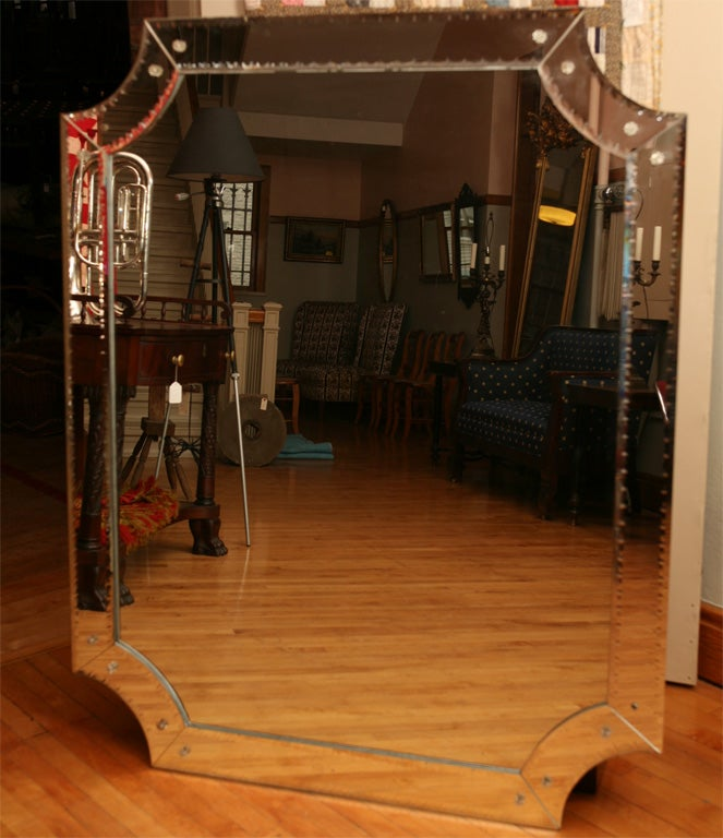 Mid Century Italian Mirror In Excellent Condition For Sale In Hudson, NY