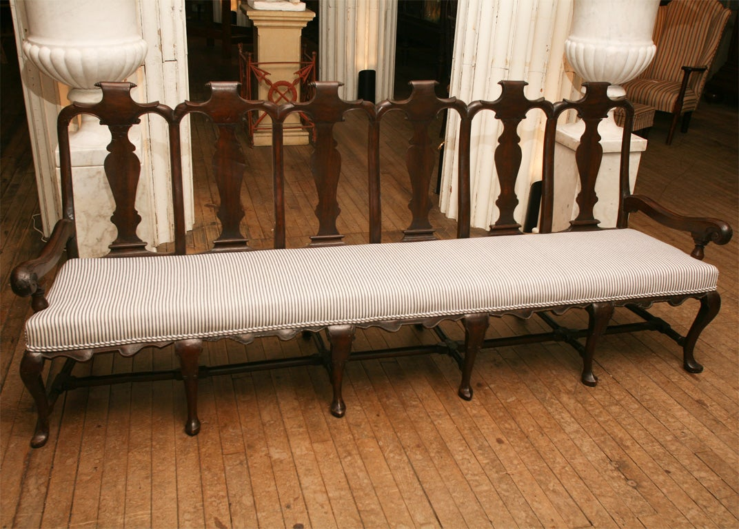 Queen Anne Fiddleback Bench At 1stdibs