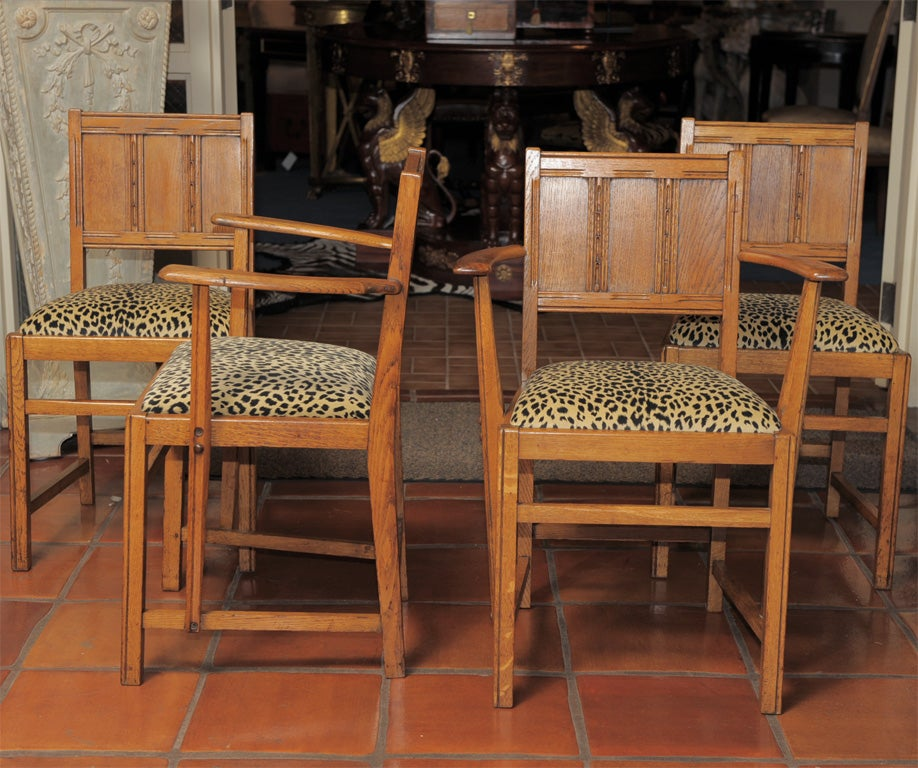 this set of four mission style oak chairs is no longer available