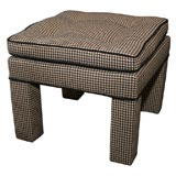 Pair of 1960's Houndstooth Ottomans/Benches