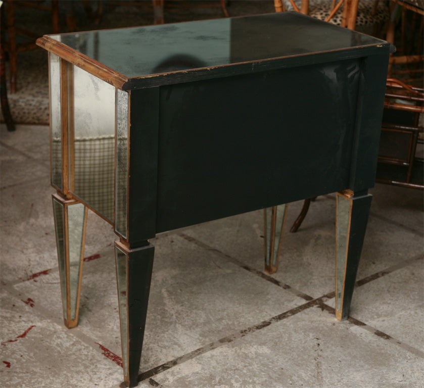 Mirrored Small Chest with Gold Gilt Trim 8